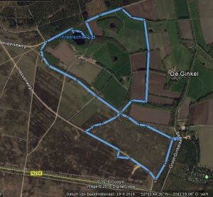Wandeling route